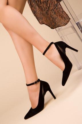 Soho Exclusive Siyah Süet Kadın Klasik Topuklu Ayakkabı 15251 0