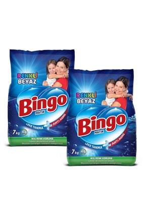 Bingo Matik Toz Çamaşır Deterjanı Renkli & Beyaz 7 kg 2'li 1