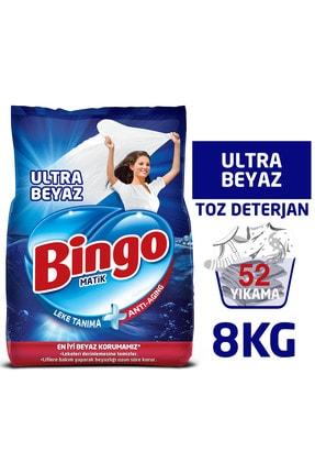 Bingo Matik Toz Çamaşır Deterjanı 4 kg Ultra Beyaz 2'li 0