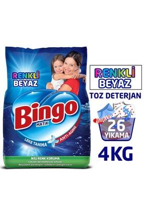 Bingo Toz Çamaşır Deterjanı Renkli - Beyaz 4 Kg 0