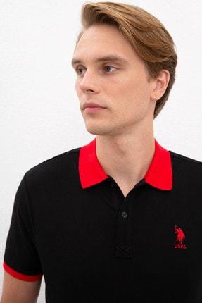 US Polo Assn Sıyah Erkek T-Shirt 1