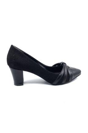 Daisy Kadın Siyah Süet Topuklu Ayakkabısı 0