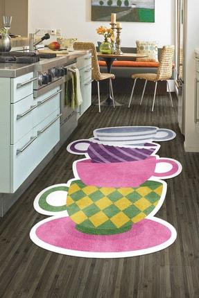 Colizon Dekoratif Yıkanabilir Kaymaz Tabanlı Lazer Kesimli Mutfak Halısı 0
