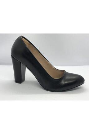 Kadın Siyah Büyük Numara Klasik Topuklu Ayakkabı klasik topuklu ayakkabı 000017