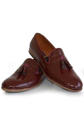 MPP Erkek Bordo Hakiki Deri Rok Günlük Ayakkabı Uzı1501 1