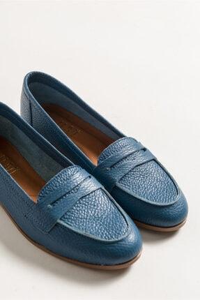 LuviShoes Kadın Kot Cilt Babet F02 2