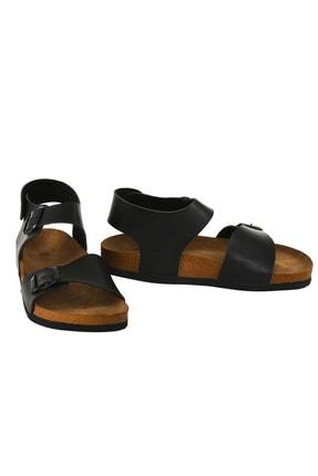 JustBow Unisex Siyah Sandalet 1