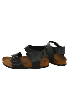 JustBow Unisex Siyah Sandalet 2