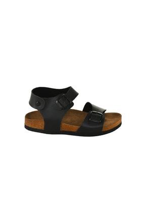 JustBow Unisex Siyah Sandalet 4