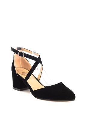 Soho Exclusive Siyah Süet Kadın Klasik Topuklu Ayakkabı 14392 4