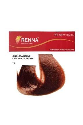 Renna Saç Boyası Tüp 60 Ml - Çikolata Kahve 7-7 ( Oksidan Hediyeli ) 0