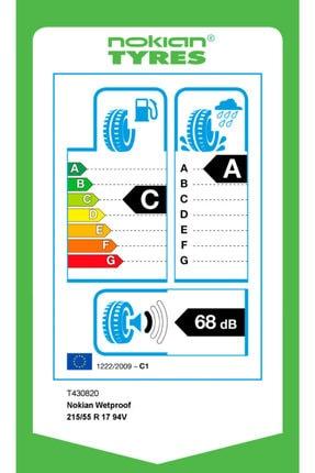 Nokian Wetproof 215/55 R17 94v Yaz Lastiği 2020 Üretimi 2