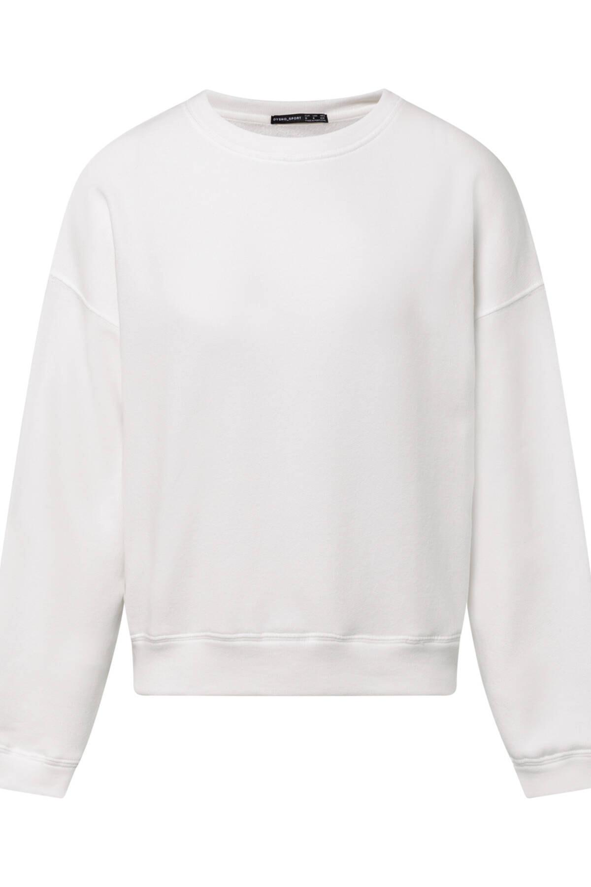 Oysho Kadın Ekru Pamuklu Sweatshirt 3