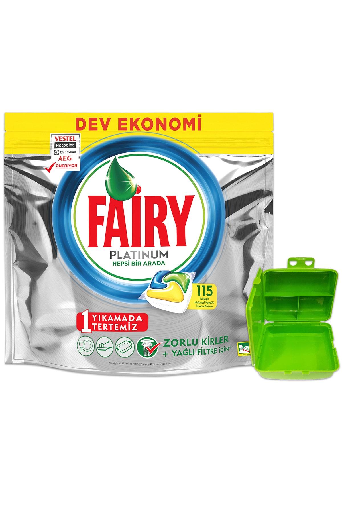 Fairy Platınum 115 Yıkama Bulaşık Makinesi Kapsul Limon Kokulu (beslenme Kutusu Hediye) 0