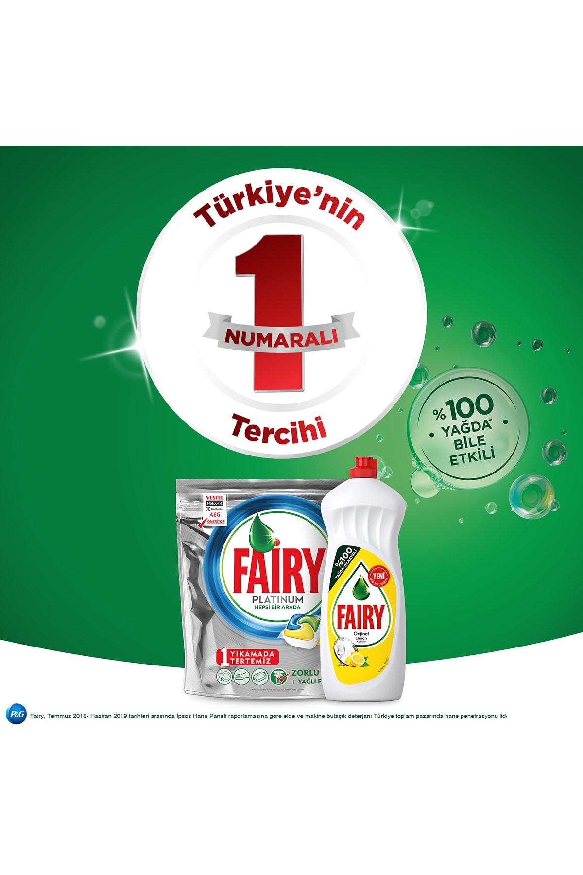 Fairy Platınum 115 Yıkama Bulaşık Makinesi Kapsul Limon Kokulu (beslenme Kutusu Hediye) 4