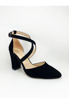 Daisy Kadın Siyah Çapraz Bantlı Topuklu Ayakkabı 1