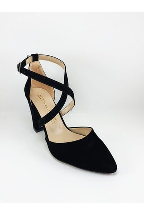 Daisy Kadın Siyah Çapraz Bantlı Topuklu Ayakkabı 2