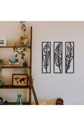 evivakonsept Dekoratif Üçlü Mdf Tüy Tablo 0