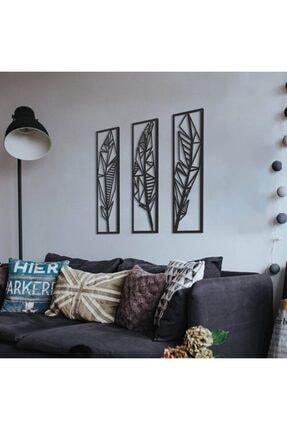 evivakonsept Dekoratif Üçlü Mdf Tüy Tablo 1