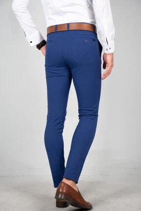 DeepSea Saks Mavi Erkek Kumaş Pantolon - İtalyan Kesim 1805010 4