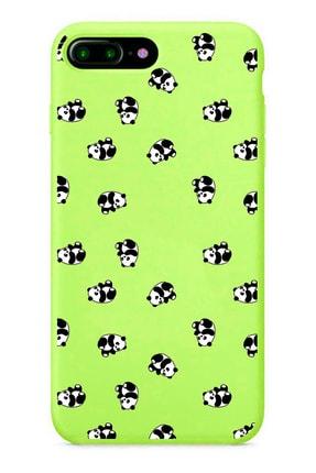 POFHİ Iphone 6 Plus Sevimli Pandalar Yeşil Premium Telefon Kılıfı 0
