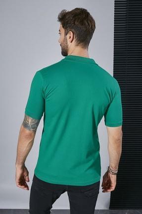 Sateen Men Erkek Koyu Yeşil Polo Yaka Slimfit T-Shirt STN844ETS111 2