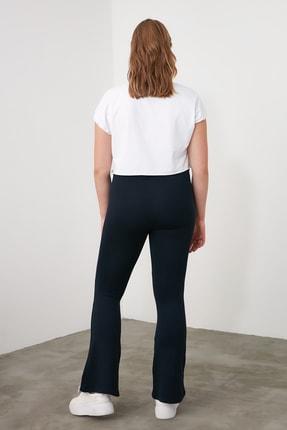 TRENDYOLMİLLA Lacivert Flare Örme Pantolon TWOSS20PL0342 4