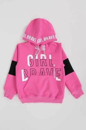 Ahenk Kids Kız Çocuk Pembe Girl Brave Baskılı Sweat 13358 0