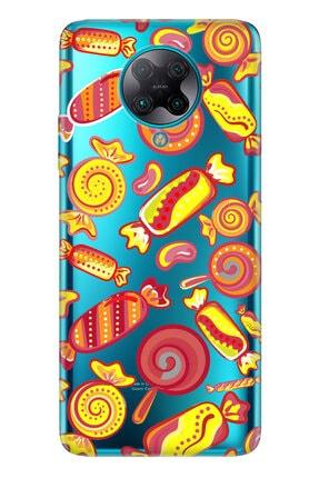 Cekuonline Xiaomi Pocophone F2 Pro Kılıf Temalı Resimli Silikon Telefon Kapak - Şeker 0