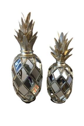 BLZ Home Gümüş Aynalı Ananas Seti 1