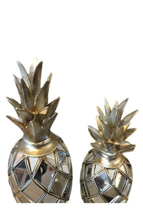 BLZ Home Gümüş Aynalı Ananas Seti 2