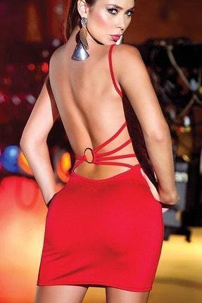 Merry See Sırtı Metal Aksesuarlı Kırmızı Mini Ebise 1