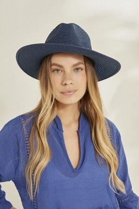 C&City Syt Kadın Hasır Şapka Y2730-57 Lacivert 0