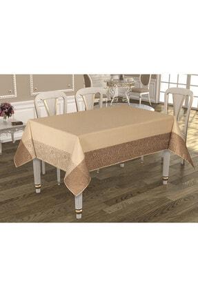 safir home collection Teflon Desenli Sıvı Kaydırıcı Masa Örtüsü 160x220 Bordo 1