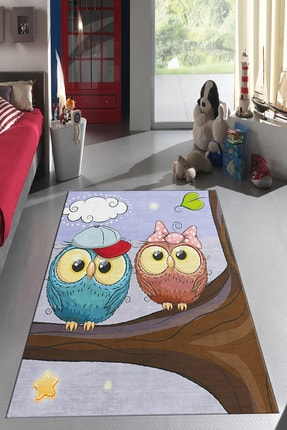 Homefesto Dekoratif Özel Tasarım Ince Yıkanabilir Leke Tutmaz Modern Çocuk Halısı 0