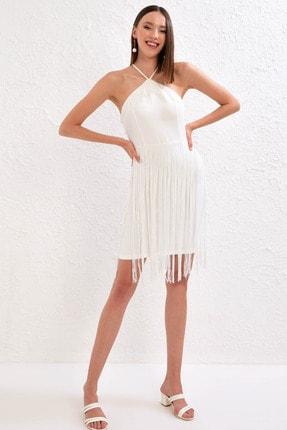 LC Waikiki Kadın Optik Beyaz Elbise 0WDA48Z8 1