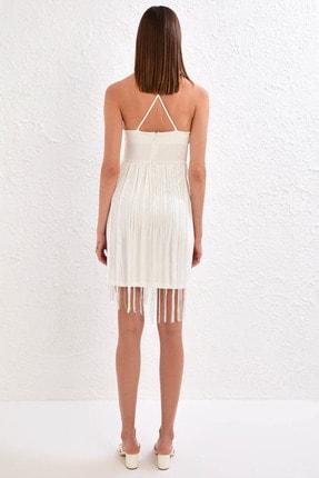 LC Waikiki Kadın Optik Beyaz Elbise 0WDA48Z8 2