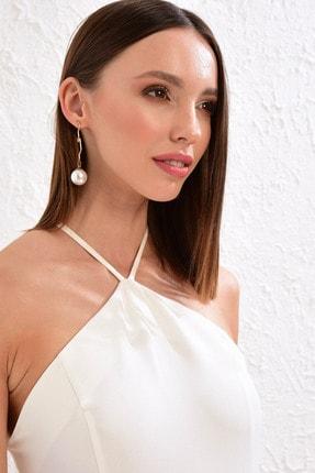 LC Waikiki Kadın Optik Beyaz Elbise 0WDA48Z8 3