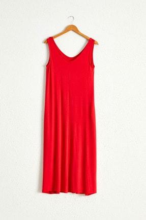 LC Waikiki Kadın Kırmızı Elbise 0WCU28Z8 2