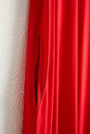 LC Waikiki Kadın Kırmızı Elbise 0WCU28Z8 3
