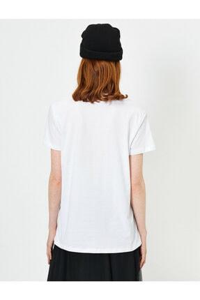 Koton Kadın Beyaz Baskili T-shirt 3
