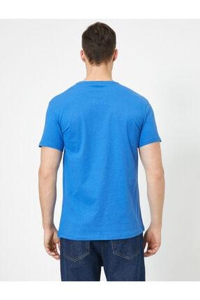 Koton Erkek Mavi Superman Lisansli Baskili T-Shirt 0YAM11216CK 3