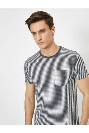Koton Erkek Gri Cep Detaylı T-Shirt 1