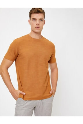 Koton Erkek Kahverengi T-Shirt 0YAM14011OK 1