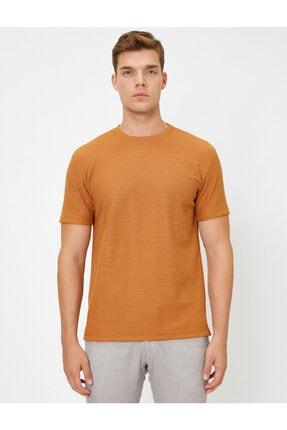 Koton Erkek Kahverengi T-Shirt 0YAM14011OK 2