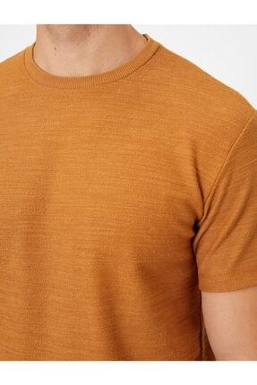 Koton Erkek Kahverengi T-Shirt 0YAM14011OK 4