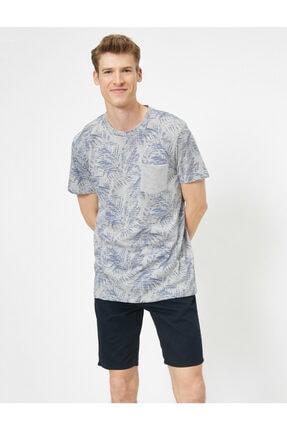 Koton Erkek Gri Desenli T-Shirt 1