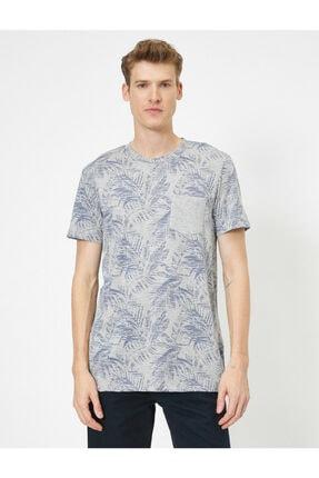 Koton Erkek Gri Desenli T-Shirt 2