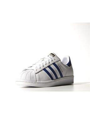 adidas Erkek Spor Ayakkabı - Superstar Foundatıon Ftw Croyal Ftw - B27141 3