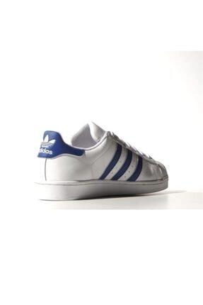 adidas Erkek Spor Ayakkabı - Superstar Foundatıon Ftw Croyal Ftw - B27141 4